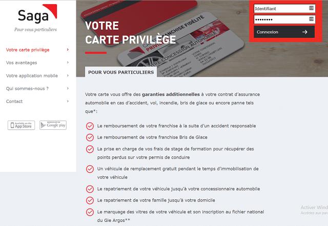 assurance auto saga carte privilege