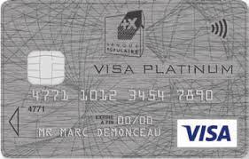 carte bancaire visa platinum banque populaire