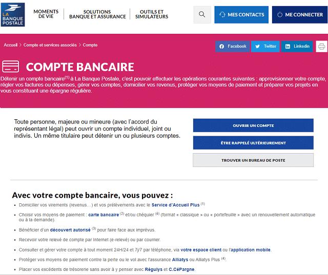 compte bancaire banque postale