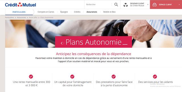assurance dépendance plans autonomie acm crédit mutuel