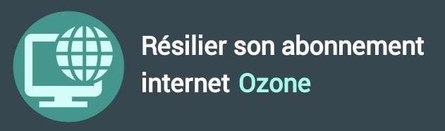résiliation abonnement internet ozone
