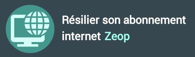 résiliation abonnement internet zeop