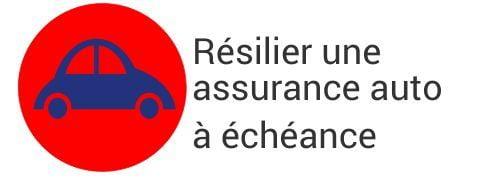resiliation assurance auto a echeance