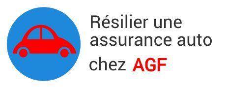 resiliation assurance auto agf