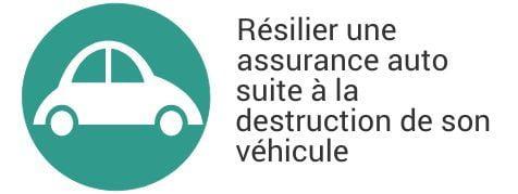 resiliation assurance auto destruction vehicule