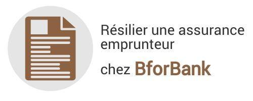 resiliation assurance emprunteur bforbank