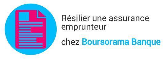 resiliation assurance emprunteur boursorama banque