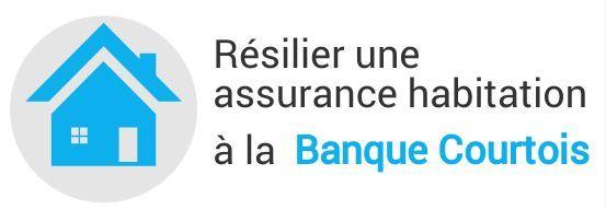 resiliation assurance habitation banque courtois