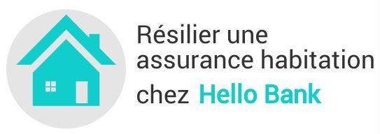 resiliation assurance habitation hello bank
