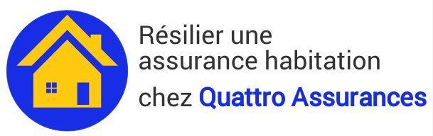 resiliation assurance habitation quattro assurances