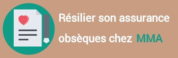 resiliation assurance obseques mma