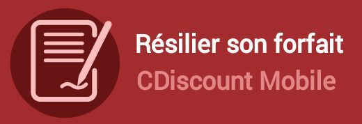 resilier forfait cdiscount mobile