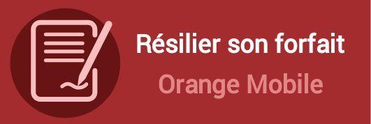 resilier forfait orange mobile