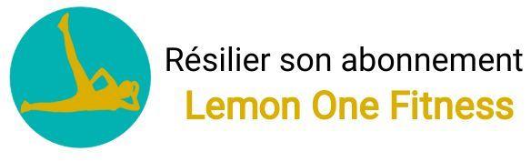 resiliation abonnement lemon one fitness