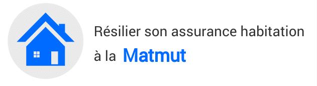 résiliation assurance habitation matmut