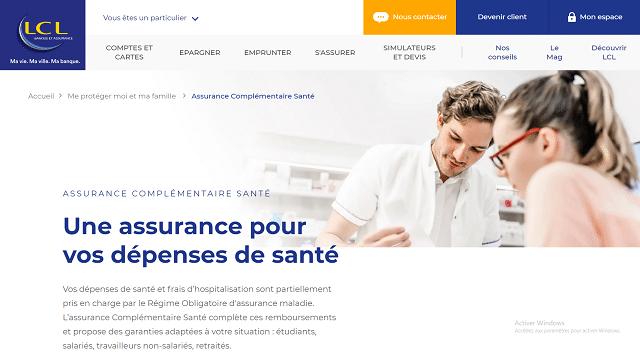 assurance complémentaire santé lcl