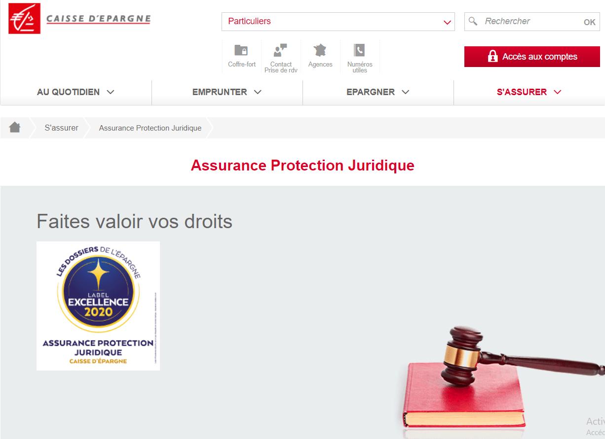 protection juridique caisse d'épargne